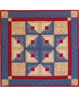 "Log Cabin Star Wallhanging Quilt Kit 22"" x 22"""