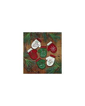 Mittens:  Kit to Make Six Embroidered Ornaments