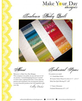 Toulouse Baby Quilt Pattern