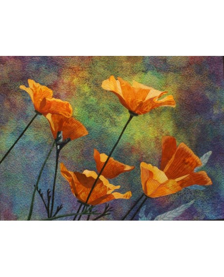 Yellow Poppies Quilt Pattern